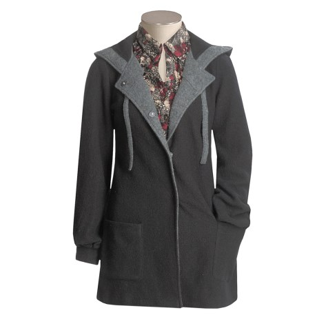 Cullen Hooded Coat - Boiled Wool (For Women)