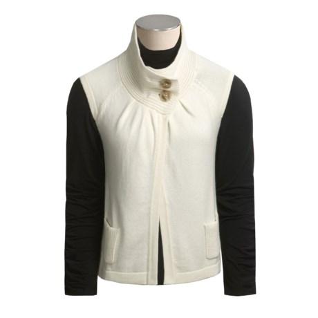 Cullen Cashmere Cardigan Sweater - Short Sleeve (For Women)