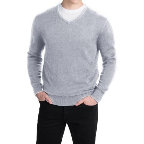 Pendleton Cotton-Cashmere Sweater - V-Neck (For Men)
