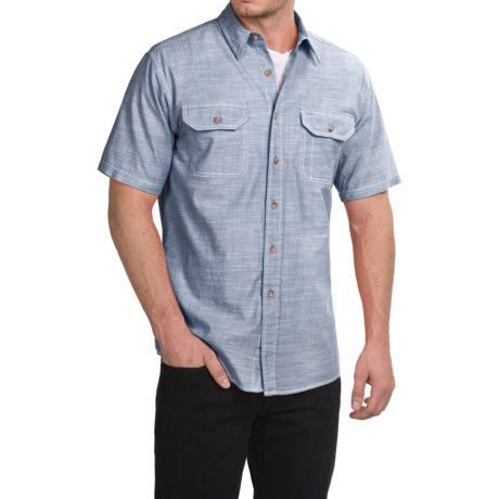 Pendleton Warren Chambray Shirt - Cotton, Short Sleeve (For Men)