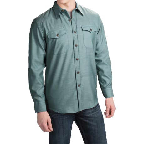 Pendleton Blaine Wool Fitted Chambray Shirt - Long Sleeve (For Men)