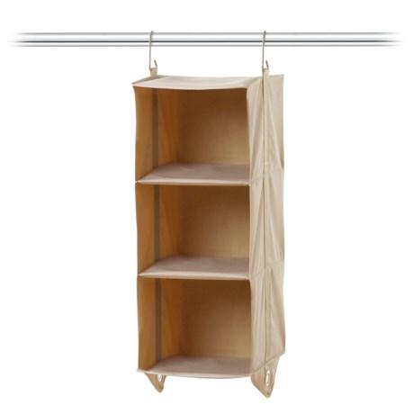 closetMAX 3-Shelf Hanging Closet Organizer