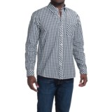 Vintage 1946 Cotton Gingham Shirt - Button-Down Collar, Long Sleeve (For Men)