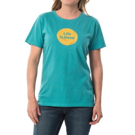 Life is good® Crusher T-Shirt - Short Sleeve (For Women)