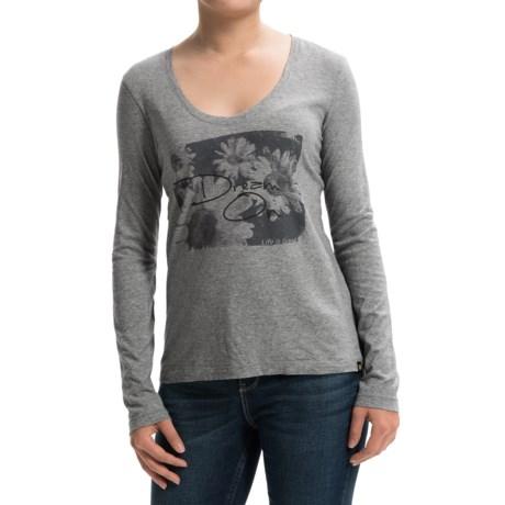 Life is good® Newbury T-Shirt - V-Neck, Long Sleeve (For Women)
