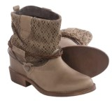 Coolway Clea Leather Ankle Boots - Hidden Wedge Heel (For Women)