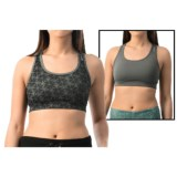 Reebok Shibori Everyday Reversible Sports Bra - Medium Impact, Racerback (For Women)