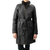 Cole Haan Outerwear Quilted Leather-Trim Coat - Removable Liner (For Women)