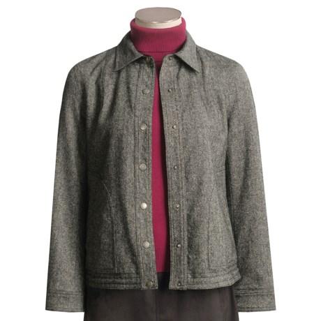 Yansi Fugel Tweed-Moleskin Jacket - Reversible (For Women)