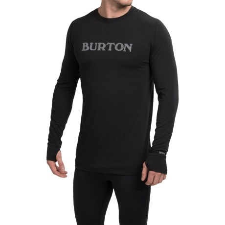 Burton Midweight Crew Base Layer Top - UPF 50+, Long Sleeve (For Men)