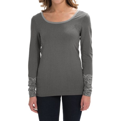 Aventura Clothing Floral Pullover Shirt - Zip Neck, Long Sleeve (For Women)