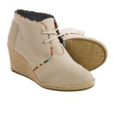 TOMS Desert Wedge Ankle Boots - Burlap-Suede (For Women)