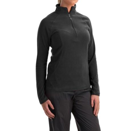 White Sierra Hexi Fleece Shirt - Zip Neck, Long Sleeve (For Women)