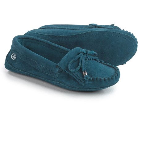 Old Friend Peace Mocs by  Megan Moccasins - Suede (For Women)