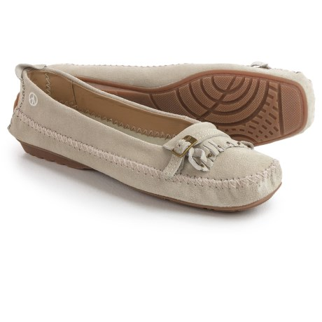 Old Friend Peace Mocs by  Emily Moccasins - Suede (For Women)