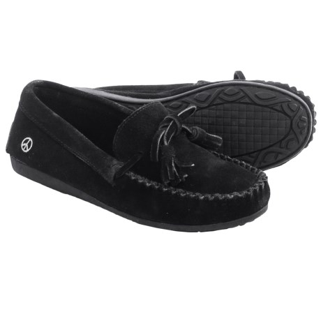 Old Friend Peace Mocs by  Doris Moccasins - Suede (For Women)