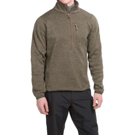 Avalanche Brighton Fleece Pullover Shirt - Zip Neck, Long Sleeve  (For Men)