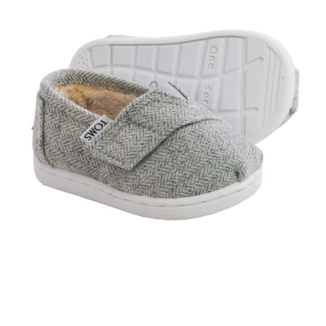 TOMS Classic Wool Cross-Strap Shoes (For Infants)
