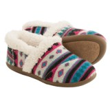 TOMS Fuchsia Fair Isle Slippers (For Little and Big Kids)