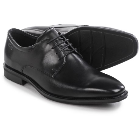 ECCO Faro Plain-Toe Derby Shoes - Leather (For Men)