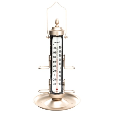 """Conant Bird Feeder with Thermometer and Tray - 18"""""""