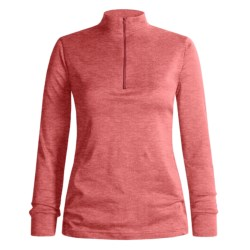 Wickers Midweight Base Layer Top - Zip Neck, Midweight, Long Sleeve (For Women)