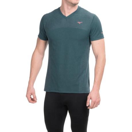 Mizuno BT Body Mapping Shirt - V-Neck, Short Sleeve (For Men)
