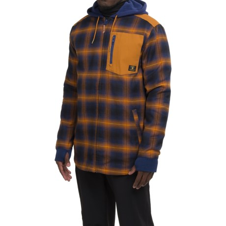 DC Shoes Backwoods Flannel Shirt Jacket - Insulated (For Men)