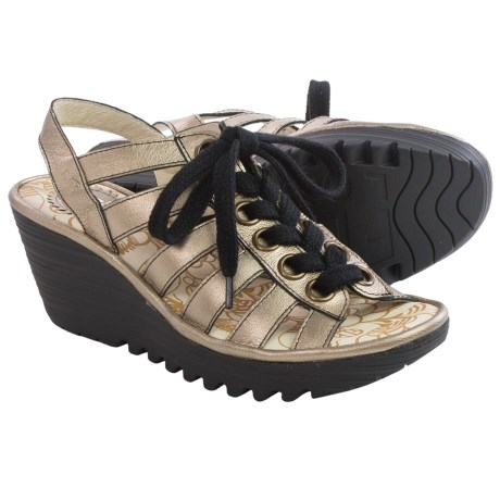 Fly London Yito Sandals - Leather, Wedge Heel (For Women)