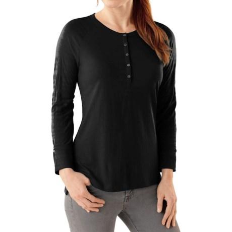 SmartWool Burnout Henley Shirt - Merino Wool, Long Sleeve (For Women)