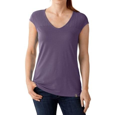 SmartWool Burnout Combo T-Shirt - Short Sleeve (For Women)