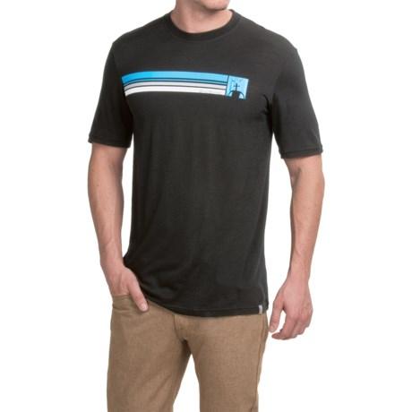 SmartWool Logo Stripe Slim T-Shirt - Merino Wool, Short Sleeve (For Men)