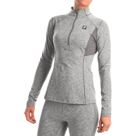 Orage Cozy Base Layer Top - Zip Neck, Long Sleeve (For Women)