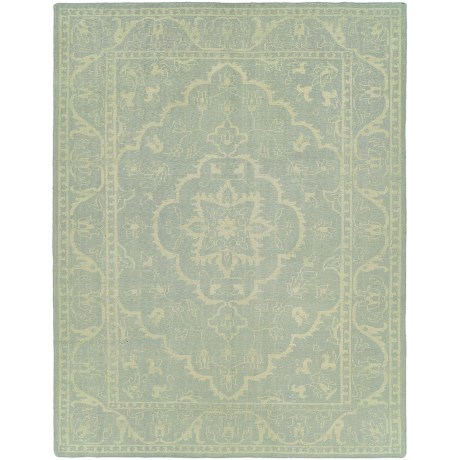 HRI Antique Natural Hand-Knotted Wool Area Rug - 5x8'