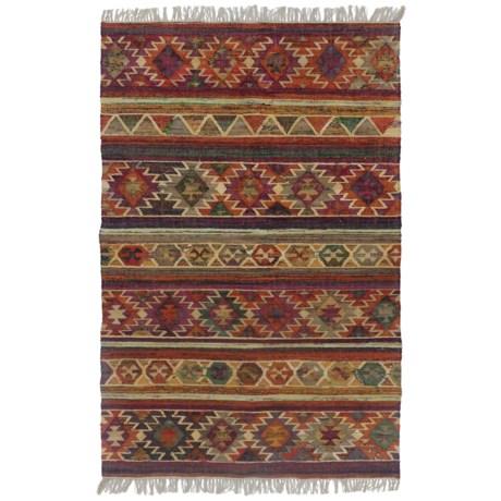 HRI Tribal Kilim Flat-Weave Area Rug - 8x10'