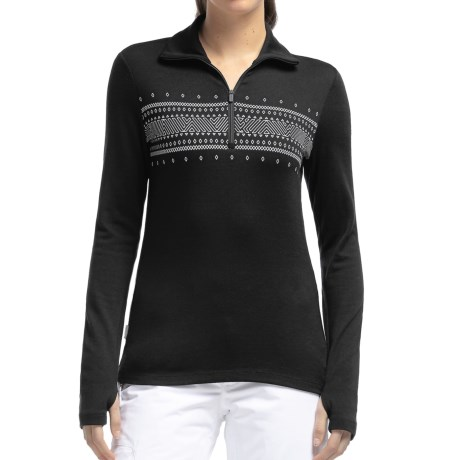 Icebreaker Bodyfit 260 Tech Fair Isle Top - Merino Wool, Zip Neck, Long Sleeve (For Women)