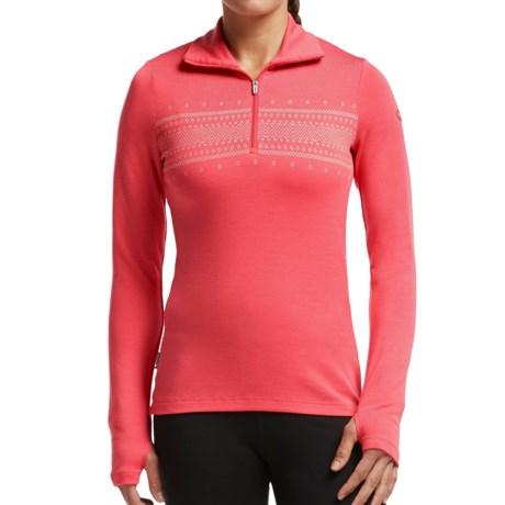 Icebreaker Bodyfit 260 Tech Fair Isle Top - Merino Wool, Zip Neck, Long Sleeve (For Women)