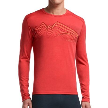Icebreaker BodyFit 200 Oasis Equalizer Base Layer Top - Merino Wool, Crew Neck, Long Sleeve (For Men)