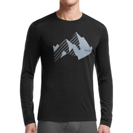 Icebreaker BodyFit 200 Oasis New Streak Base Layer Top - Merino Wool, Crew Neck, Long Sleeve (For Men)