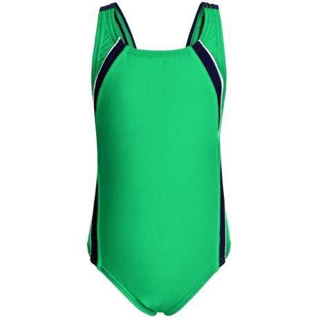 Speedo Taper Splice Pulse Back Swimsuit (For Little and Big Girls)