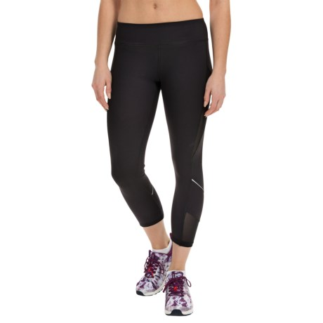 Kyodan Reflective Technical Running Capris - UPF 40+ (For Women)
