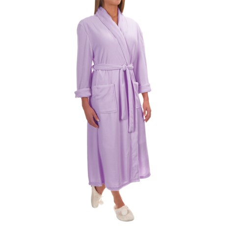 Pocketed Wrap Robe - Long Sleeve (For Women)