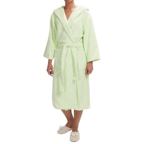 KayAnna Spa Plush Hooded Robe - Long Sleeve (For Women)