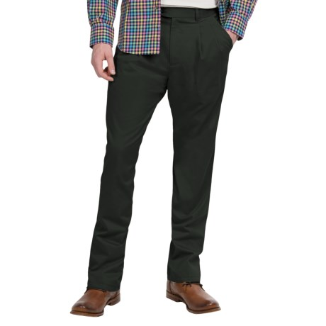 Twill Pleated-Front Pants (For Men)