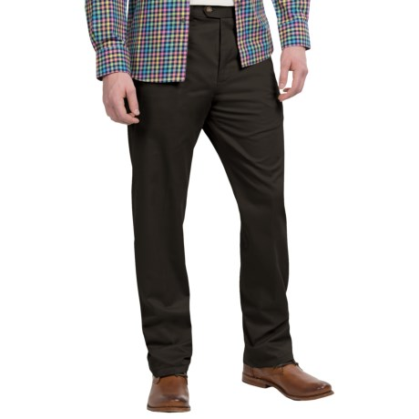 Specially made Twill Flat-Front Pants (For Men)