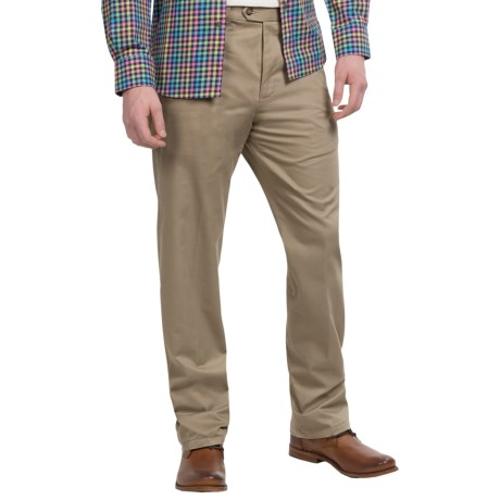Twill Flat-Front Pants (For Men)