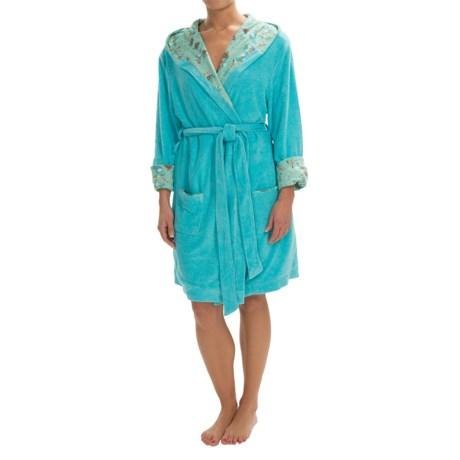 Munki Munki Reversible Hooded Robe - Long Sleeve (For Women)