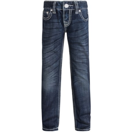 Rock & Roll Cowgirl Aztec Crystal Pocket Jeans - Bootcut (For Little and Big Girls)