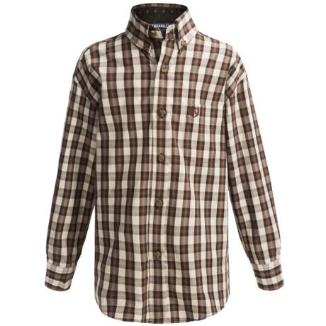 Panhandle Slim Woven Poplin Shirt - Long Sleeve (For Little and Big Boys)