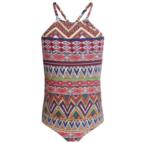 Billabong Sahara Sunset One-Piece Halter Swimsuit (For Little and Big Girls)